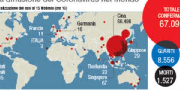 Coronavirus3: l'epidemia in Europa e nel mondo