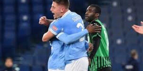 Sport/Calcio: Lazio-Sassuolo 2-1 prosegue il cammino delle aquile