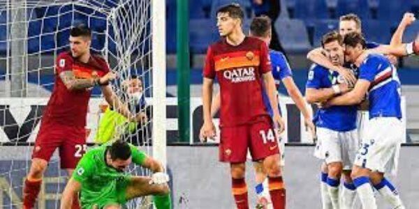 Sport/Calcio: Sampdoria-Roma (2-0) le pagelle di TVGNEWS per allenatore ed arbitro